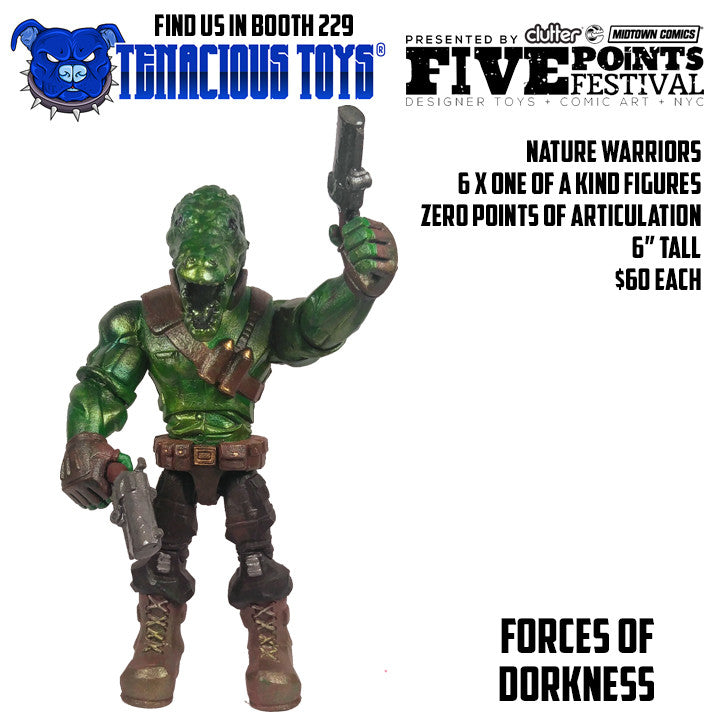 Nature Warriors 6-inch Figures by Forces of Dorkness Forces of Dorkness Custom Tenacious Toys®