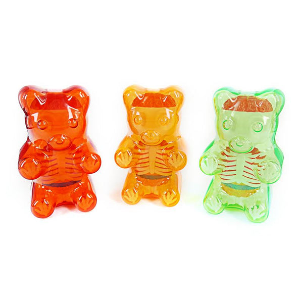 Jason Freeny Baby Clear Gummy Bear Anatomy 4-inch Figure - Tenacious Toys® - 1