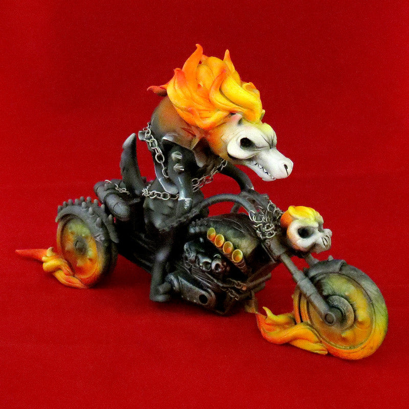 """Wolf Ghost Rider"" Custom Luke Chueh Bitch by Fuller - Tenacious Toys® - 1"