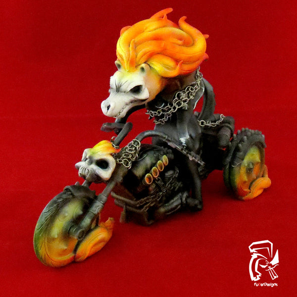 """Wolf Ghost Rider"" Custom Luke Chueh Bitch by Fuller - Tenacious Toys® - 3"