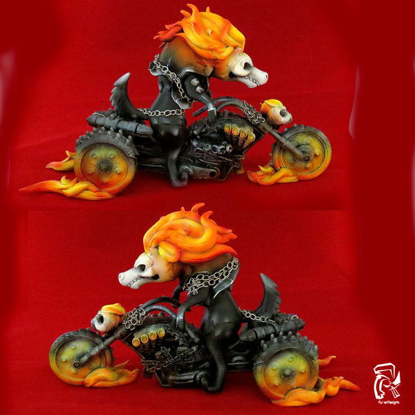 """Wolf Ghost Rider"" Custom Luke Chueh Bitch by Fuller - Tenacious Toys® - 2"