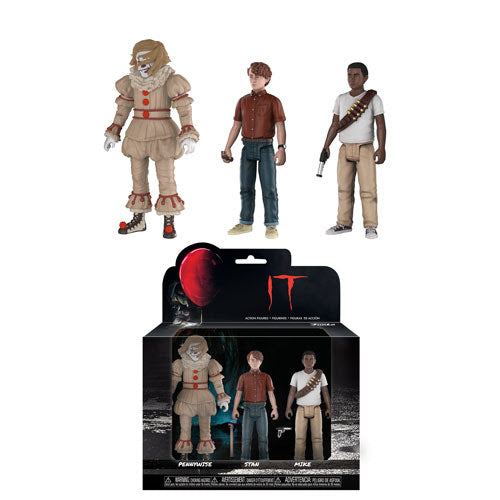 Stephen King IT Action Figure 3-piece set by Funko feat Pennywise Stanley & Mike
