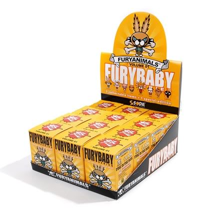 Fury Animals Blind Box Series 12-Piece Display Case FULL SET SODA Vinyl Art Toy Tenacious Toys®