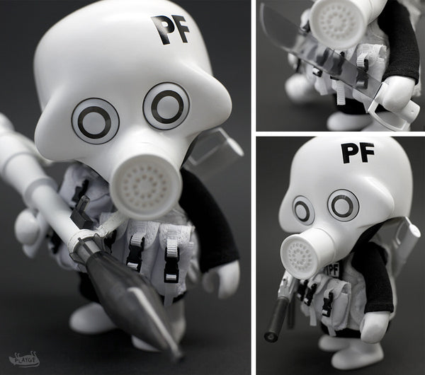 Playge Squadt GERM s006 PEACE FUCKER 6-inch vinyl figure - Tenacious Toys® - 1