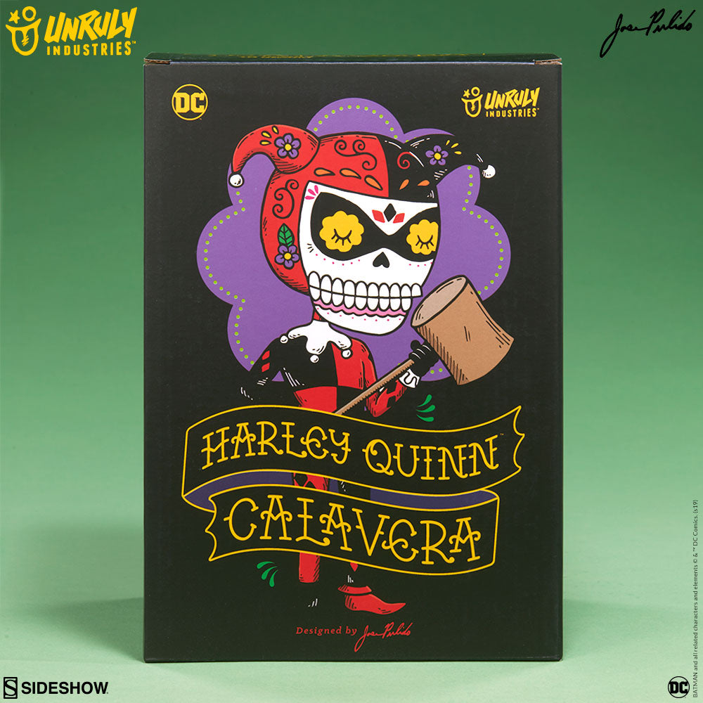 Harley Quinn Calavera 7.5-inch vinyl figure by Jose Pulido x Unruly Industries Unruly Industries Vinyl Art Toy Tenacious Toys®