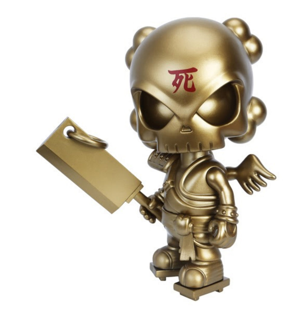 Gold Life 8-inch Gold Soul Collector by Huck Gee & MightyJaxx MightyJaxx Vinyl Art Toy Tenacious Toys®