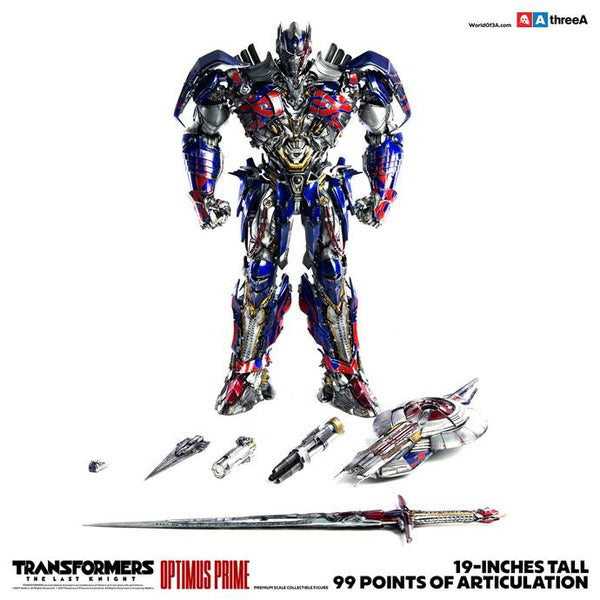 Transformers The Last Knight OPTIMUS PRIME Premium Scale 19-inch Collectible by Hasbro x ThreeA PREORDER 3A 3A Tenacious Toys®