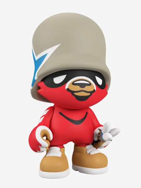 JankyTrooper Red 8-inch SuperJanky vinyl figure by Flying Fortress x Superplastic PREORDER Superplastic Vinyl Art Toy Tenacious Toys®