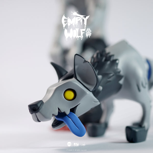 EMPTY WOLF Gray Edition 7-inch figure by JT Studio JT Studio Vinyl Art Toy Tenacious Toys®