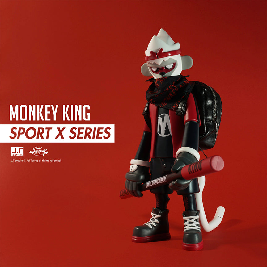 Monkey King Sport X Red 8-inch vinyl figure by JT Studio