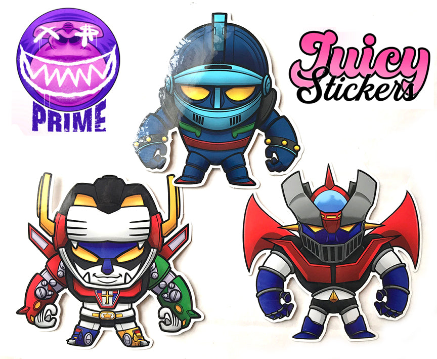Juicy Gents Wave 1 Sticker Pack by Inprimewetrust Tenacious Toys Sticker Tenacious Toys®