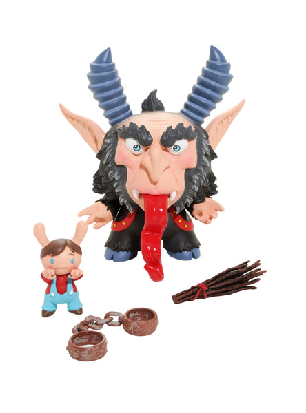 Kidrobot Krampus 5-inch Dunny by Scott Tolleson & SeriouslySillyK Standard Brown Colorway