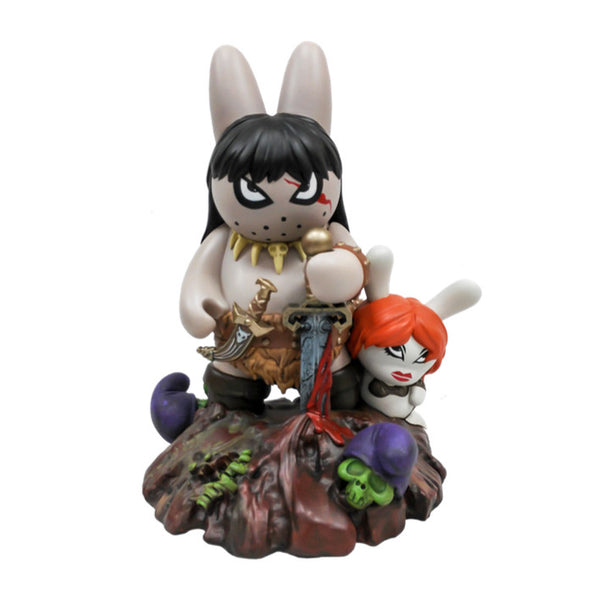 Frazetta Labbit the Barbarian Medium Figure by Kidrobot - Tenacious Toys® - 1