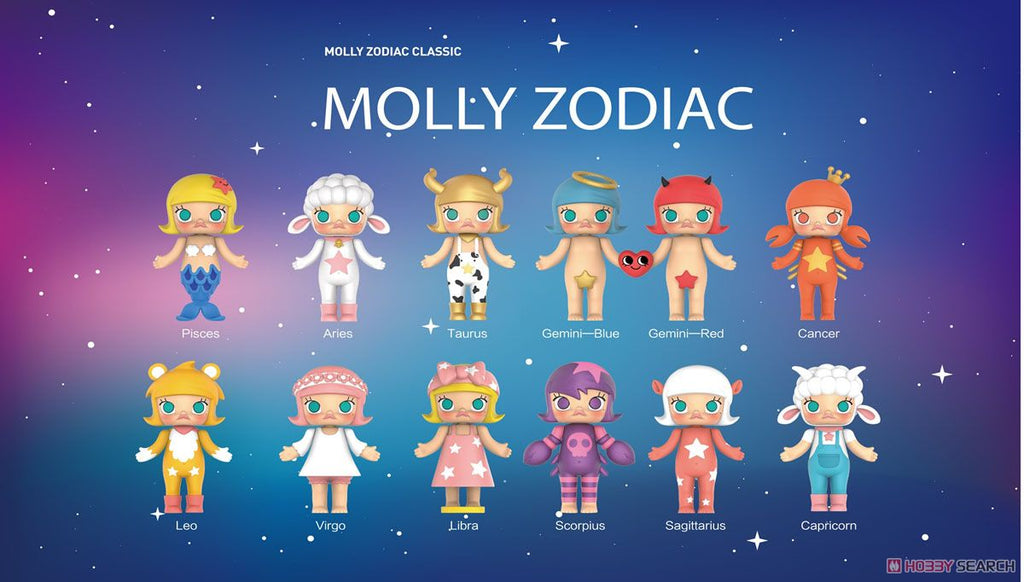 Molly Zodiac 12-Piece Display Case by Kenny Wong x Pop Mart PREORDER