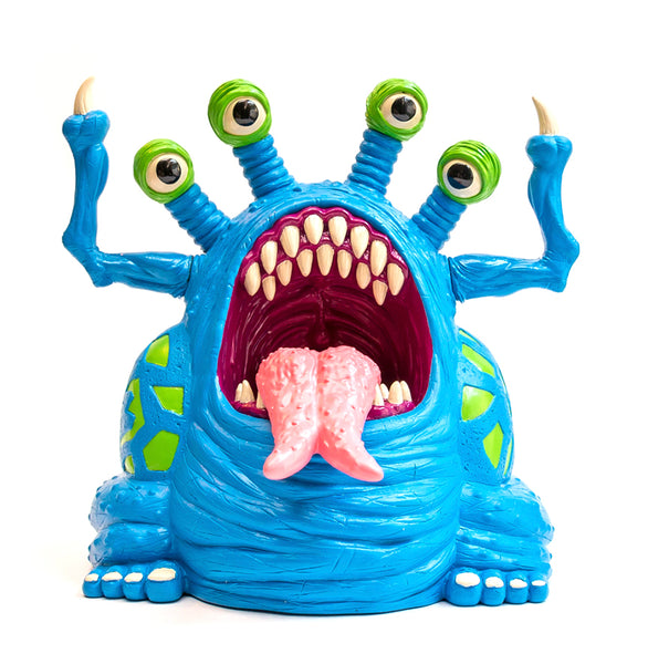 Trash Bag Bunch XL Muckoid Blue Exclusive 7.5-inch vinyl figure by Last Resort Toys Last Resort Toys Vinyl Art Toy Tenacious Toys®