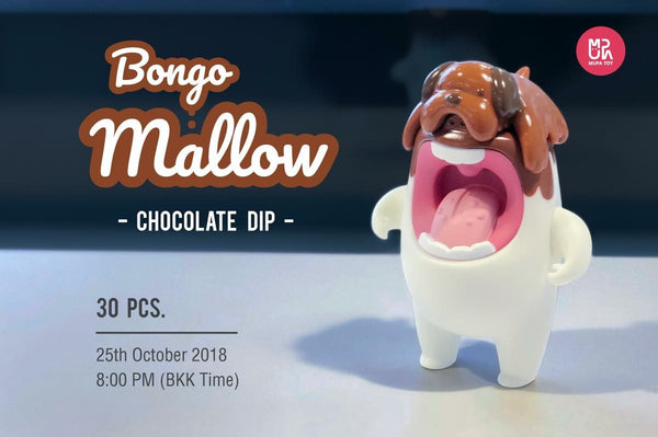 Bongo Mallow Chocolate Dip edition 5 inch vinyl figure by MUPA Toy MUPA Toy Vinyl Art Toy Tenacious Toys®