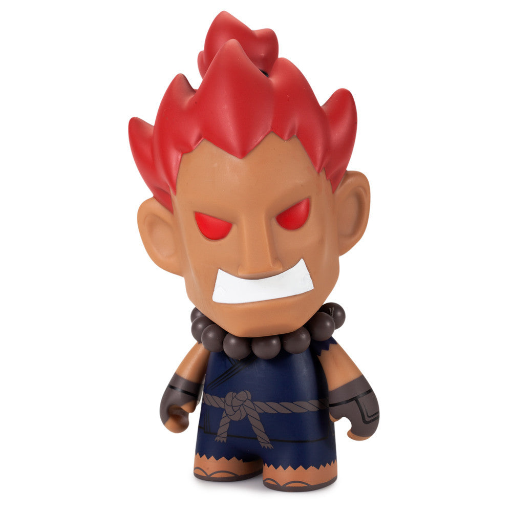 Street Fighter Akuma medium vinyl 7-inch figure by Kidrobot - Tenacious Toys® - 1