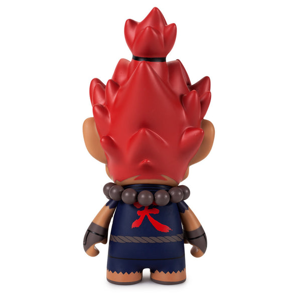 Street Fighter Akuma medium vinyl 7-inch figure by Kidrobot - Tenacious Toys® - 3