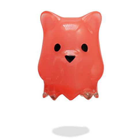 Luke Chueh Ghostbear Red Asian Glow vinyl figure by Munky King PREORDER ships early Feb Munky King Vinyl Art Toy Tenacious Toys®