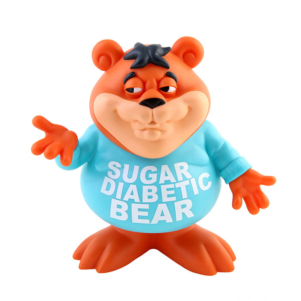 Sugar Diabetic Bear 8-inch vinyl figure by Ron English