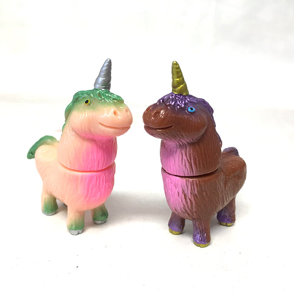 Rampage Toys Shaggy Unicorn Painted 2-Pack (Peach & Chocolate)