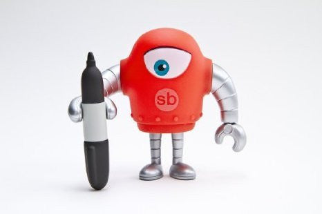 Sketchbot v.5 Red by Steve Talkowski - Tenacious Toys® - 1