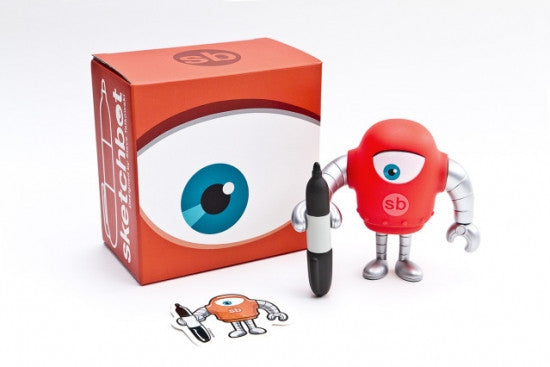 Sketchbot v.5 Red by Steve Talkowski vendor-unknown Vinyl Art Toy Tenacious Toys®