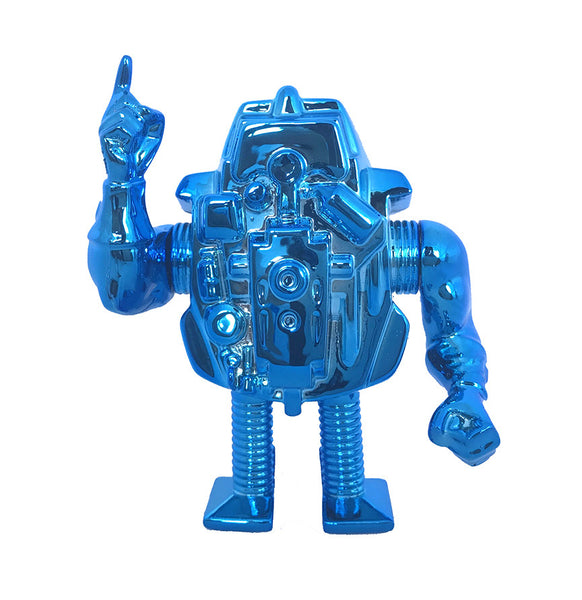 Slaughterbot Blue Chrome Edition 3.75-inch Robot Figure by Dollar Slice Bootlegs