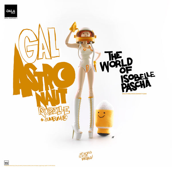 PREORDER 3A World of Isobelle Pascha Wave 3 Girl Astronaut Isobelle and Sunbum the Rocket
