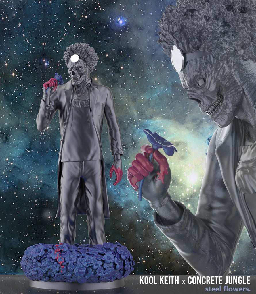 Kool Keith Steel Flowers 12-inch resin collectible statue by Concrete Jungle