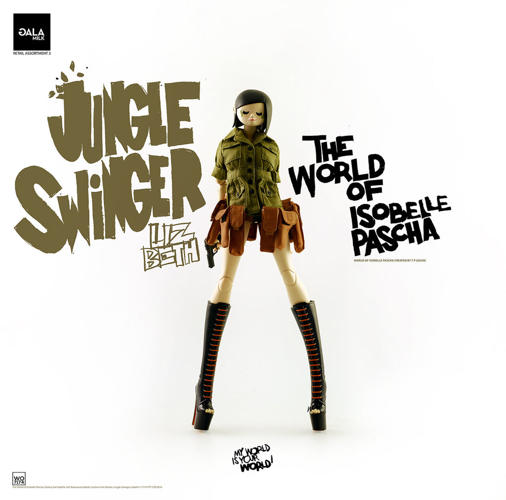 PREORDER 3A World of Isobelle Pascha Wave 3 Jungle Swinger Lizbeth - Tenacious Toys® - 1