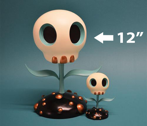Skull Flower Turquoise Edition Sculpture by Tara McPherson and ToyQube