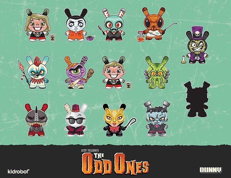 Kidrobot The Odd Ones Dunny Mini Series by Scott Tolleson SEALED CASE PLUS CASE EXCLUSIVE - Tenacious Toys® - 1