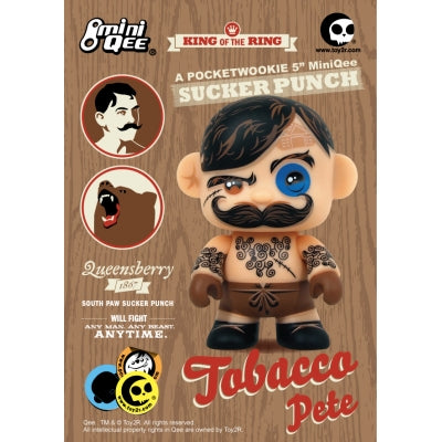Pocketwookie 5-inch Mini Qee Tobacco Pete vinyl figure by Toy2R Toy2R Vinyl Art Toy Tenacious Toys®