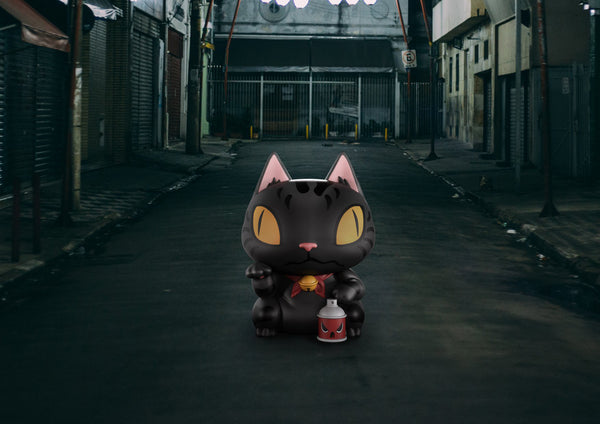 Toshi Neko Alley Kat 4-inch vinyl figure by Clogtwo x Mighty Jaxx PREORDER ships late March MightyJaxx Vinyl Art Toy Tenacious Toys®