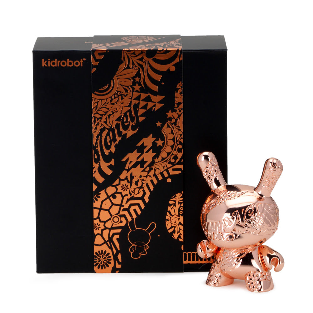 "Kidrobot New Money 5"" Metal Dunny by Tristan Eaton Rose Gold Edition Kidrobot Vinyl Art Toy Tenacious Toys®"