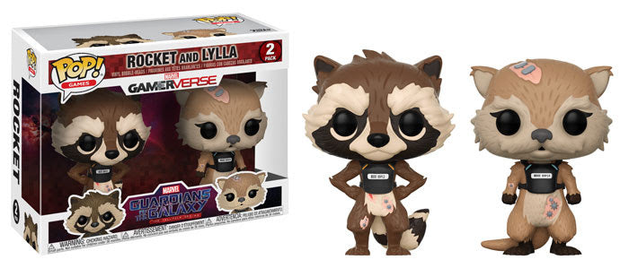 Funko POP Marvel Games: Guardians of the Galaxy The Telltale Series Rocket & Lylla 2-Pack