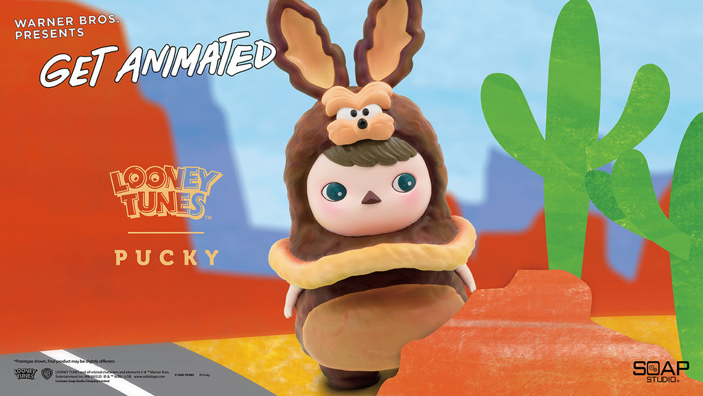 WB Get Animated Wile E. Coyote 8-inch vinyl figure by Pucky & ToyQube ToyQube Vinyl Art Toy Tenacious Toys®
