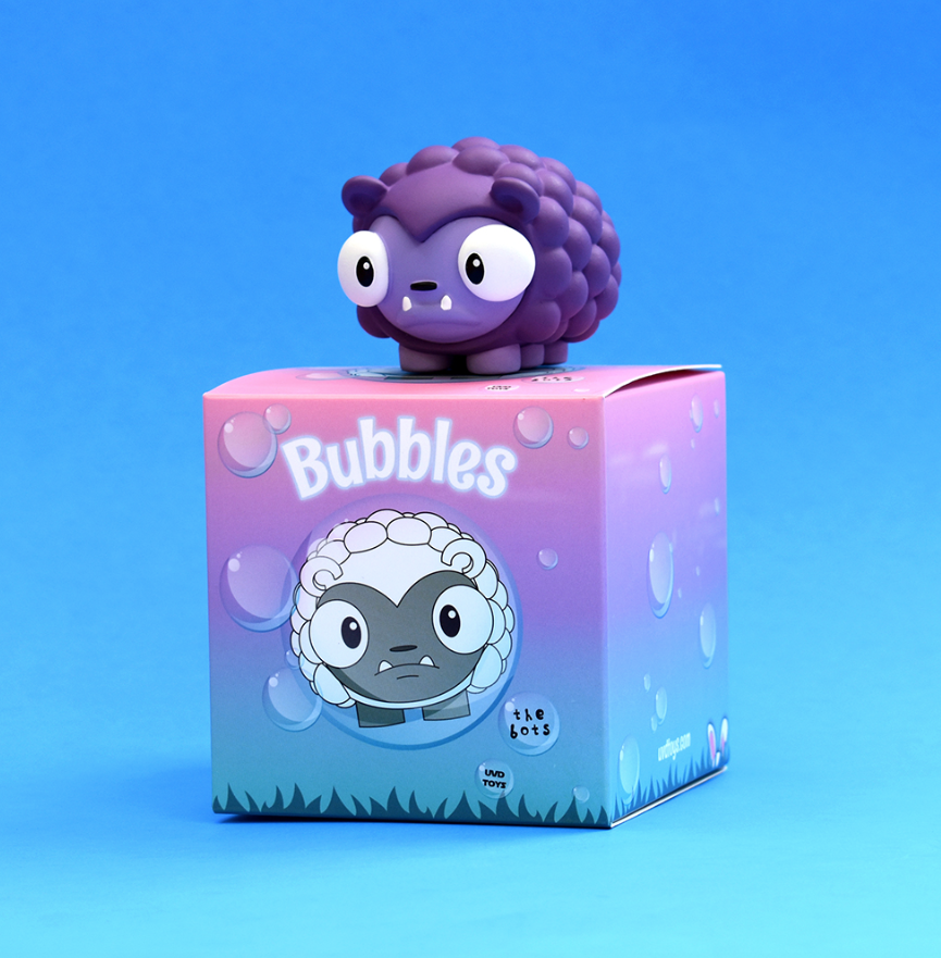 "Bubbles Grape Edition 2"" vinyl figure by The Bots & UVD Toys UVD Toys Vinyl Art Toy Tenacious Toys®"
