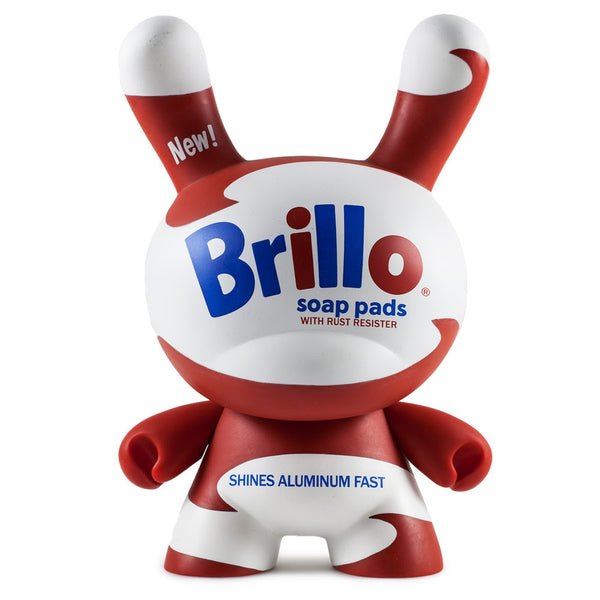 Andy Warhol White Brillo 8-inch Masterpiece Dunny Vinyl Figure by Kidrobot - Tenacious Toys® - 2