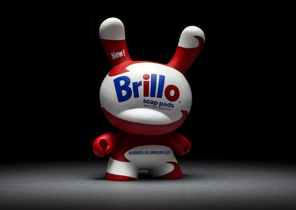Andy Warhol White Brillo 8-inch Masterpiece Dunny Vinyl Figure by Kidrobot - Tenacious Toys® - 7