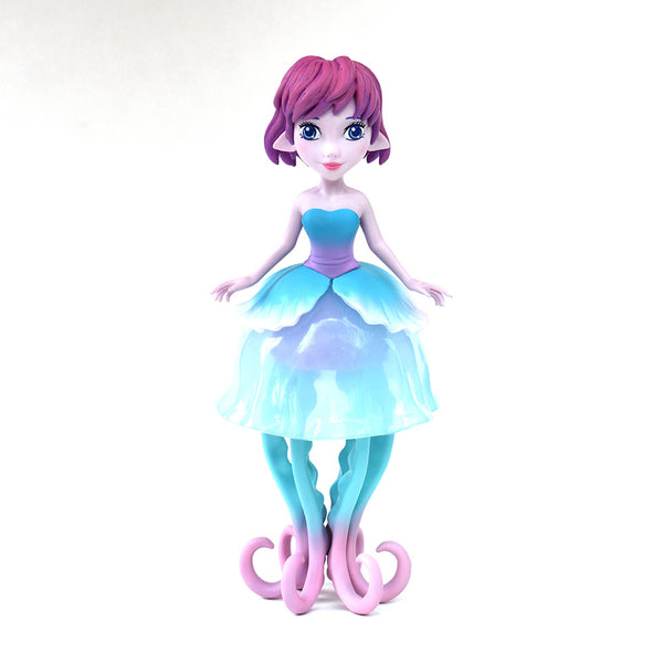 Ellie the Jellyfish Princess Teal Edition 8.5-inch vinyl figure by MJ Hsu & UVD Toys UVD Toys Vinyl Art Toy Tenacious Toys®