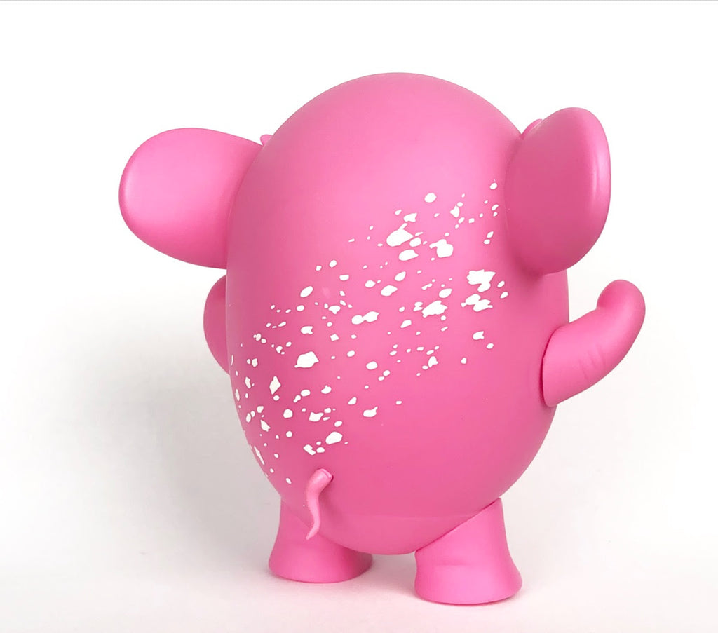Charlie The Angry Elephant OG Pink Edition 4-inch vinyl figure by AngelOnce & UVD Toys UVD Toys Vinyl Art Toy Tenacious Toys®