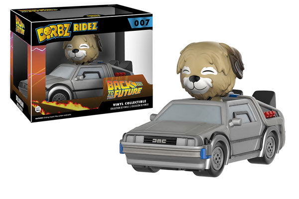 Funko Dorbz Rides Back to the Future DeLorean with Einstein Vinyl Figure Set - Tenacious Toys®