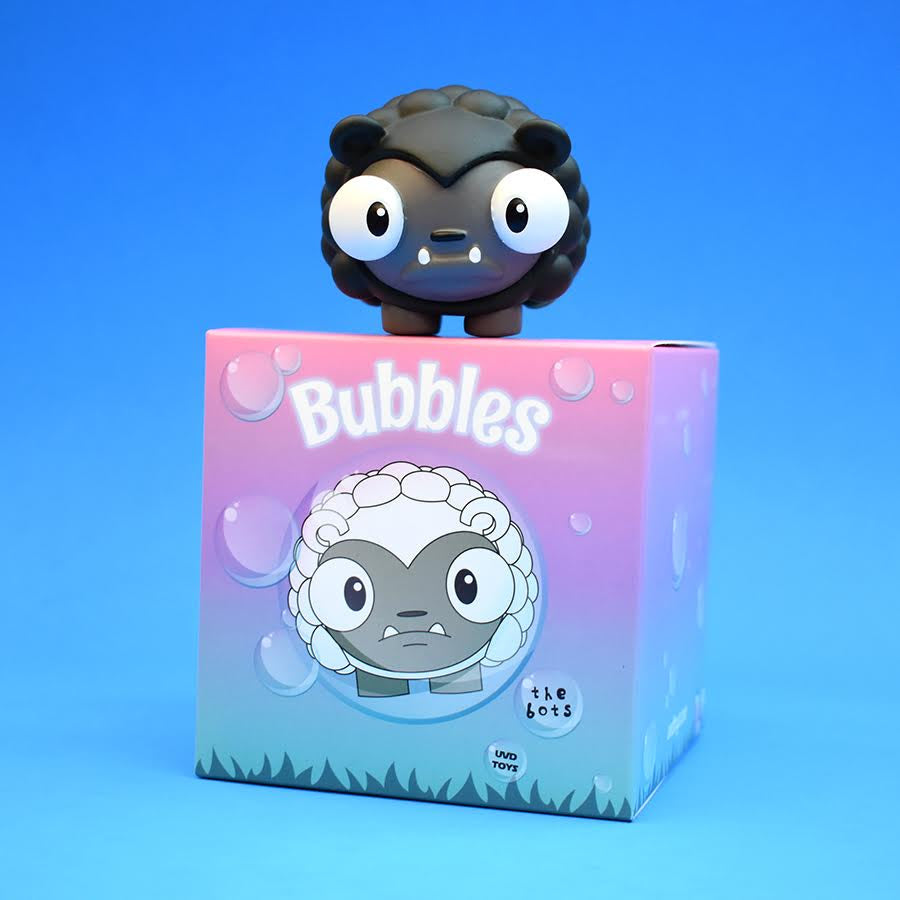 "Bubbles Black Sheep Edition 2"" vinyl figure by The Bots & UVD Toys UVD Toys Vinyl Art Toy Tenacious Toys®"