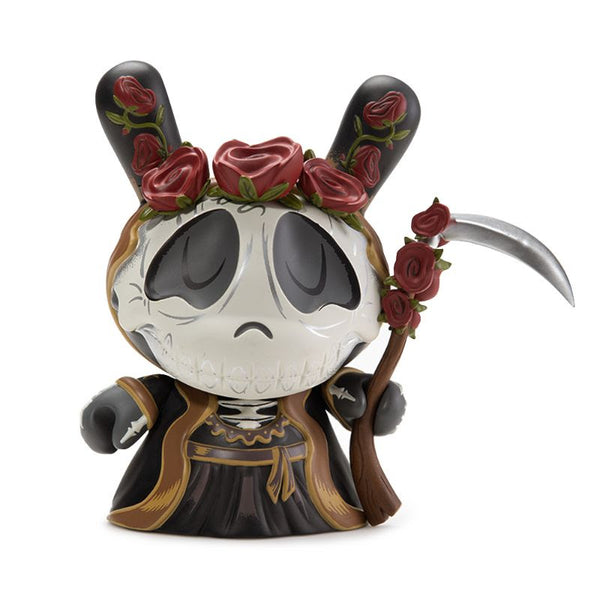 "Kidrobot 8"" Santa Muerte Dunny by Stephanie Bucsema Black Edition"