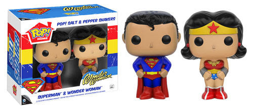 Funko Home DC Superman and Wonder Woman Salt and Pepper Shaker Set - Tenacious Toys®