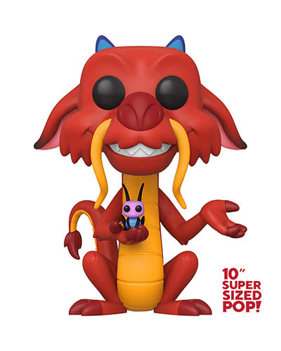 "Funko POP Disney Mulan 10"" Mushu Super-sized POP Funko Funko Tenacious Toys®"