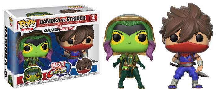 Funko POP Games Marvel vs Capcom 2-Piece Set Gamora vs Strider Set Funko Funko Tenacious Toys®