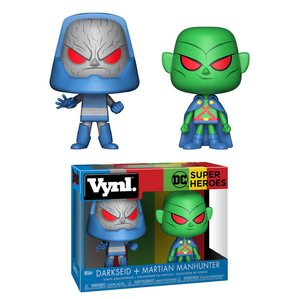 Funko Vynl DC Super Heroes Martian Manhunter & Darkseid Vinyl Collectible Toy 2-Pack